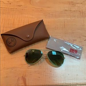 Ray-Ban Aviators with Green Frames